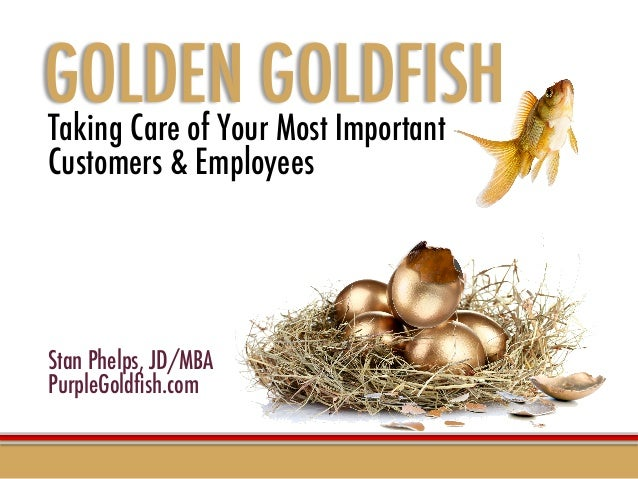 Taking Care of Your Most Important  Customers & Employees         Stan Phelps, JD/MBA PurpleGoldfish.com   GOLDEN GOLDFISH