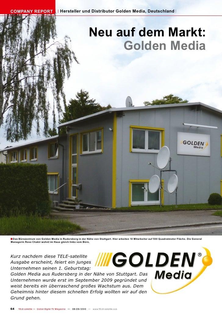 COMPANY REPORT                          Hersteller und Distributor Golden Media, Deutschland                              ...