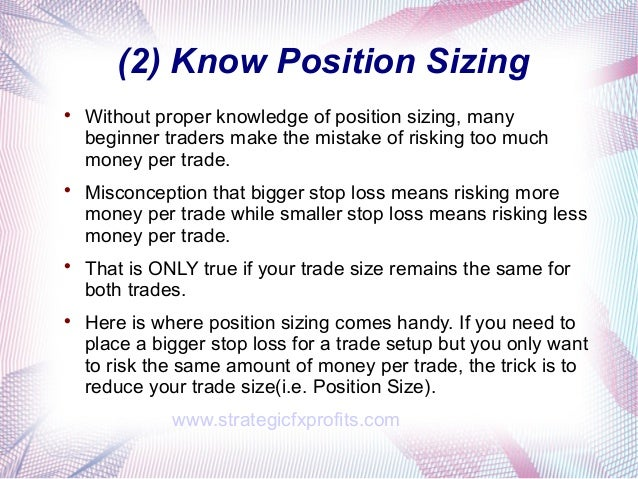 Golden rules of forex trading