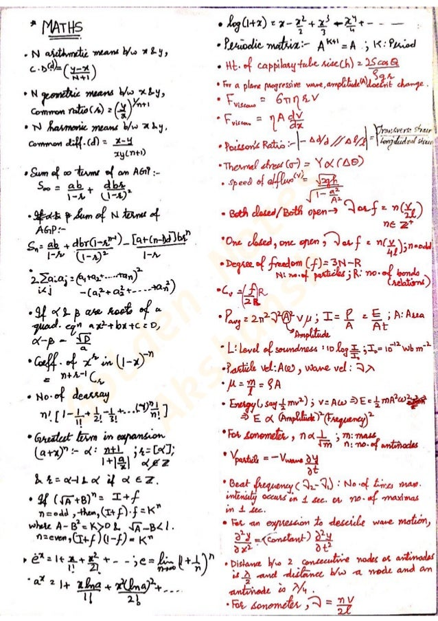 Golden notes - Math and Physics - Akshansh