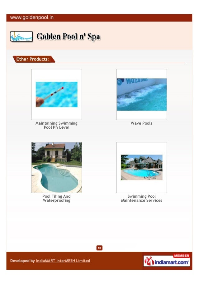 Other Products:        Maintaining Swimming            Wave Pools            Pool Ph Level           Pool Tiling And      ...