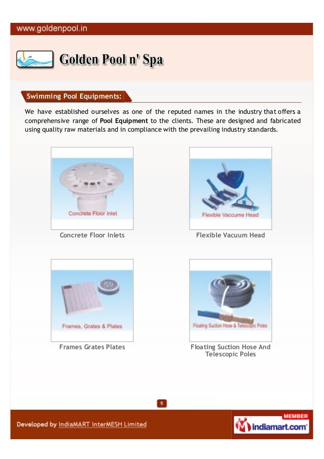 Swimming Pool Equipments:We have established ourselves as one of the reputed names in the industry that offers acomprehens...