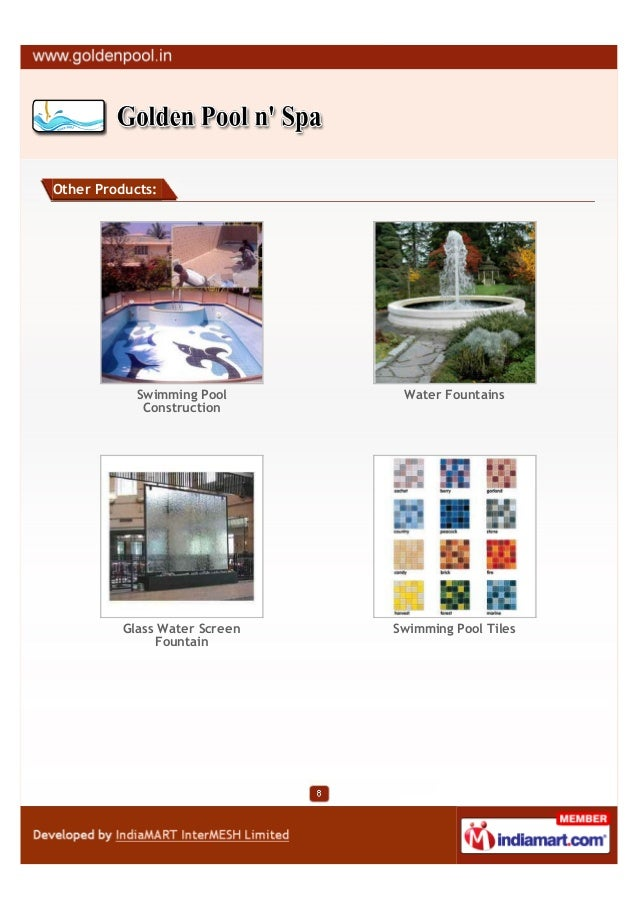 Other Products:            Swimming Pool       Water Fountains             Construction          Glass Water Screen   Swim...