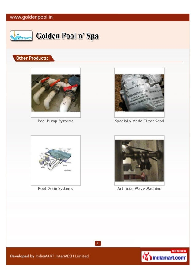 Other Products:          Pool Pump Systems    Specially Made Filter Sand          Pool Drain Systems    Artificial Wave Ma...