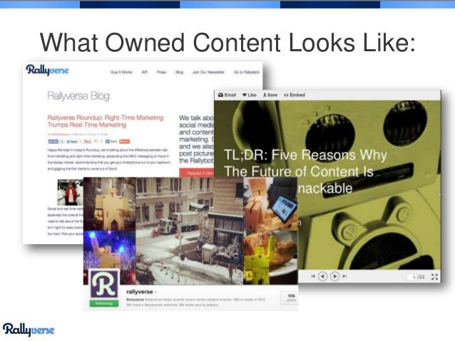 What Owned Content Looks Like: