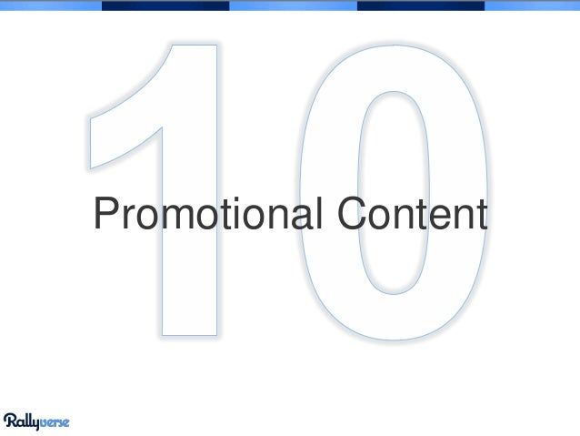 Promotional Content