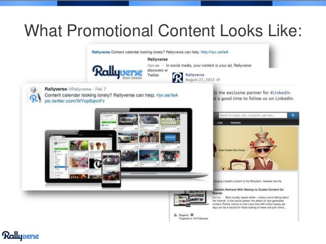 What Promotional Content Looks Like: