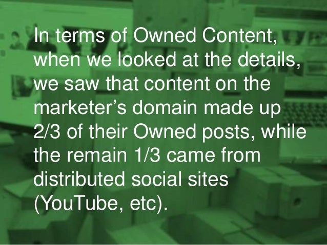 And, when you look at the detail of where those extra Owned clicks come from, you see that it's from the Owned domains the...
