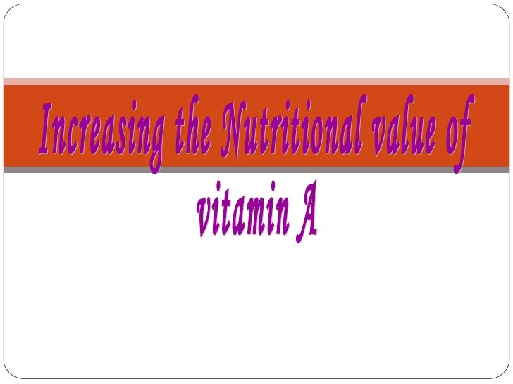 Introduction   Vitamins are the very basic building blocks required over a long    period of time (lifelong) to build a s...
