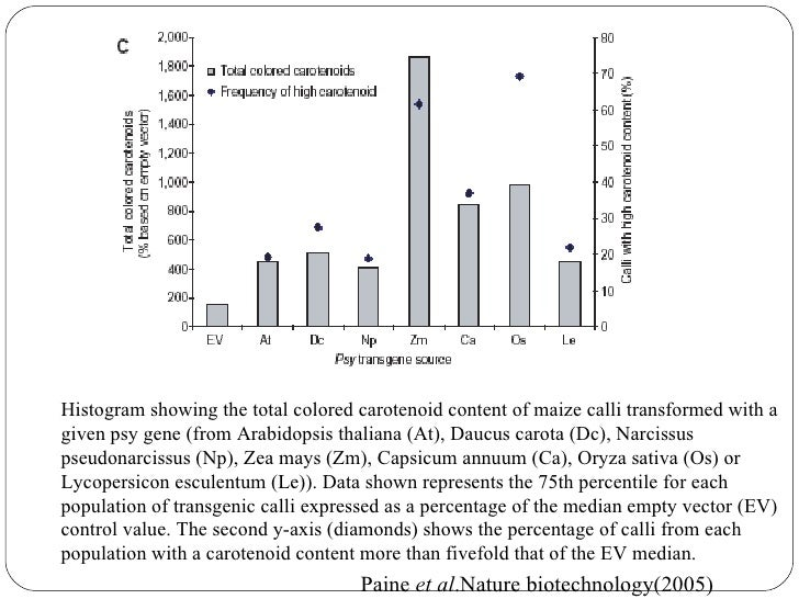  High level of carotenoid accumulate by the mechanism of carotenoid sequestration including crystallization, oil depositi...