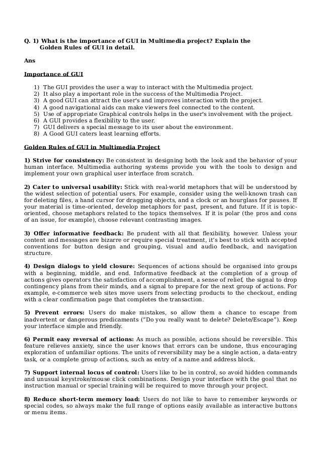 Golden Rules Of Gui In Multimedia