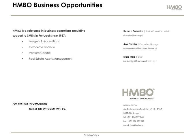 HMBO Business Opportunities  HMBO is a reference in business consulting, providing  Ricardo Guerreiro | Senior Consultant,...