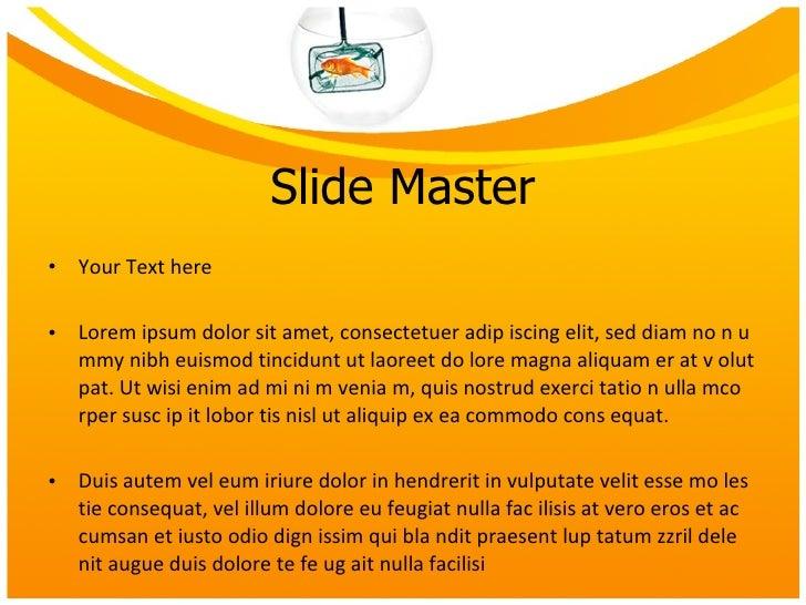 Goldfish Bowl Powerpoint presentation Slide 2