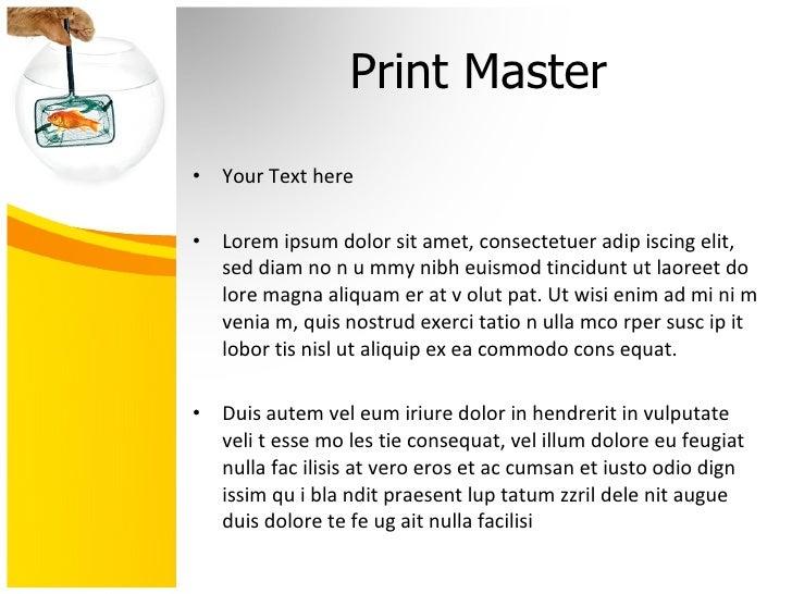 Goldfish Bowl Powerpoint presentation Slide 3