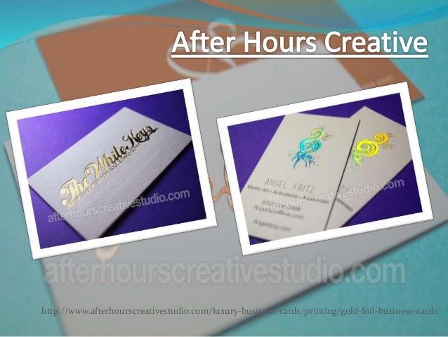 Gold business cards colourmoves