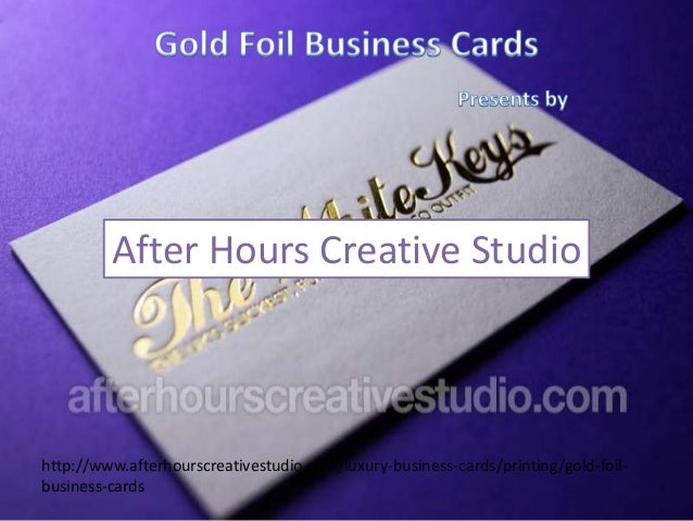 Gold Foil Business Cards printing on 450gsm
