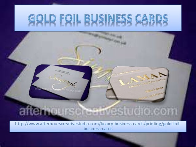 Gold foil business cards printing httpafterhourscreativestudioluxury business cards colourmoves