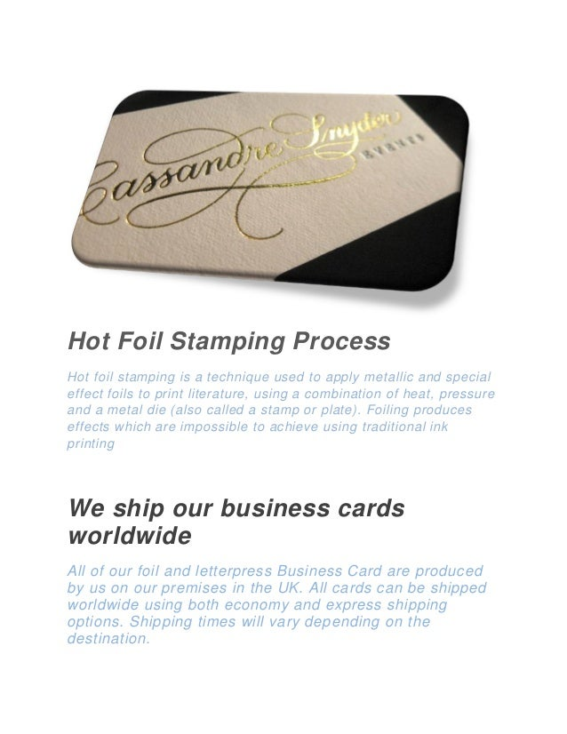 Get high quality gold foil stamped business cards online 3 reheart Image collections