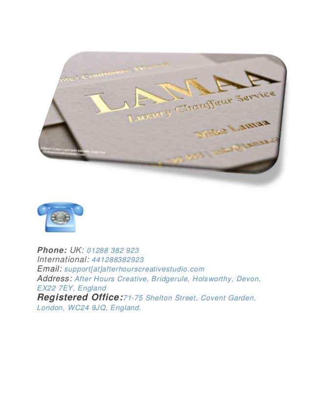 Get high quality Gold foil stamped business cards Online