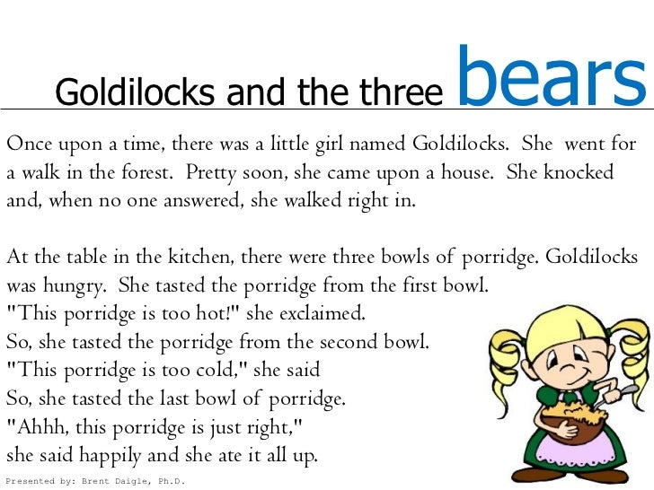 Goldilocks and the Three Bears in English and French