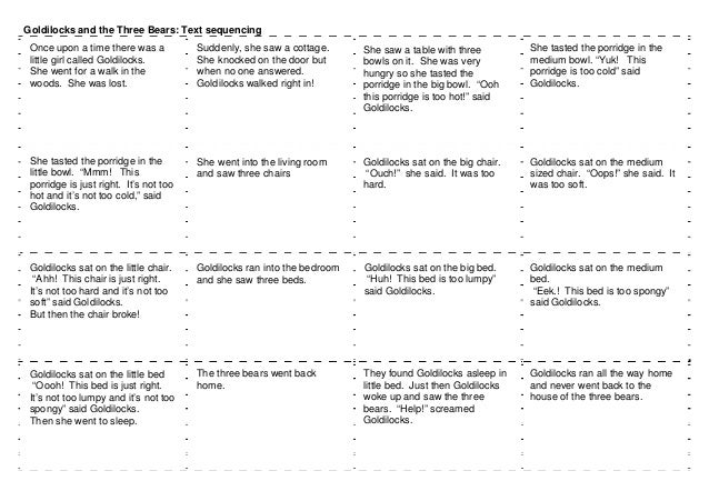 All Worksheets Goldilocks And The Three Bears Worksheets Free – Goldilocks and the Three Bears Worksheets