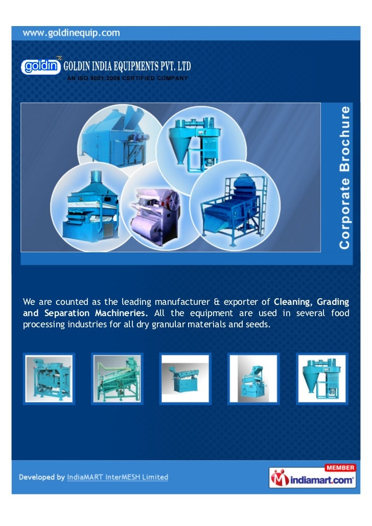 We are counted as the leading manufacturer & exporter of Cleaning, Gradingand Separation Machineries. All the equipment ar...