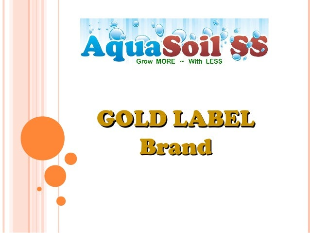 GOLD LABELGOLD LABEL BrandBrand