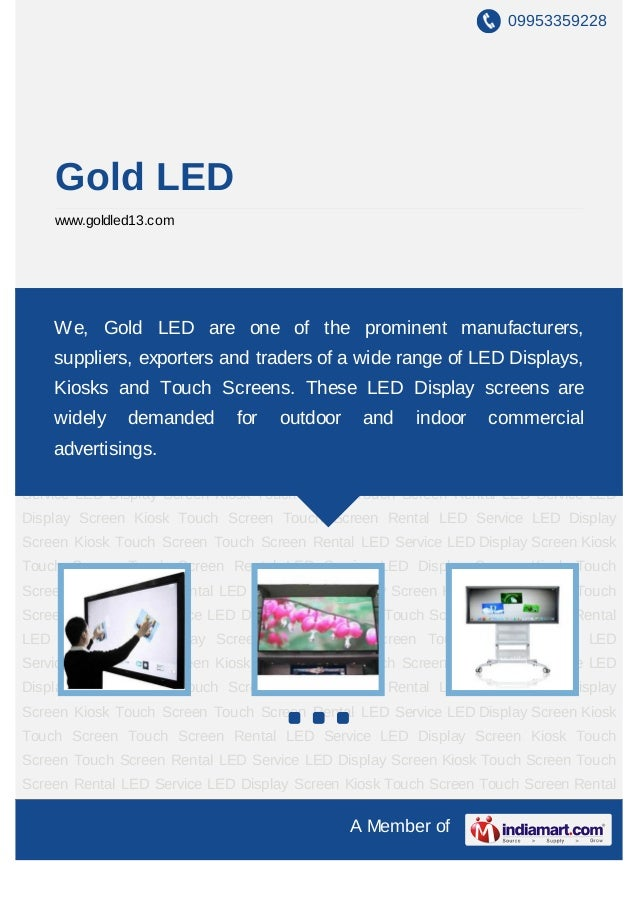 09953359228    Gold LED    www.goldled13.comRental LED Service LED Display Screen Kiosk Touch Screen Touch Screen Rental L...
