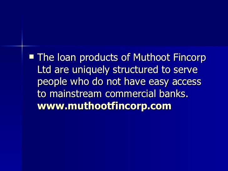 Muthoot Finance Car Loan Interest Rate