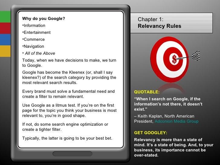 <ul><li>Why do you Google? </li></ul><ul><li>Information </li></ul><ul><li>Entertainment </li></ul><ul><li>Commerce </li><...