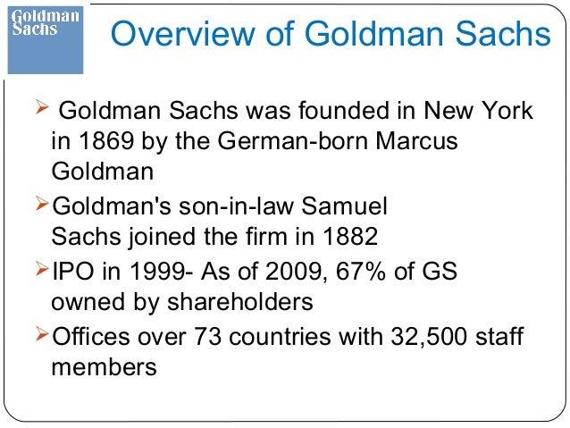 Goldman sachs ipo date 1999