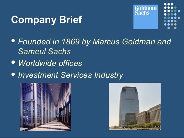 Goldman sachs ipo services