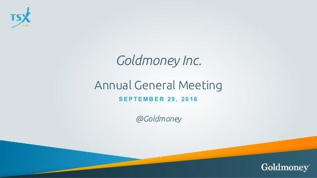 Goldmoney Inc