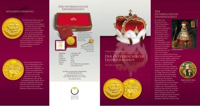 Kronen der Habsburger: Teil zwei der 100 Euro Goldmünzen Serie
