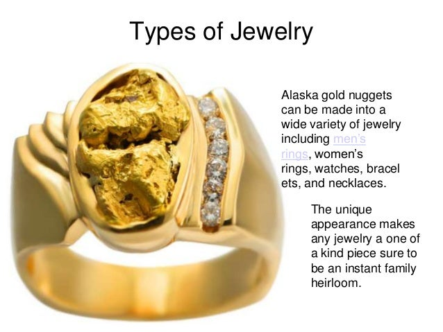 Gold nugget jewelry