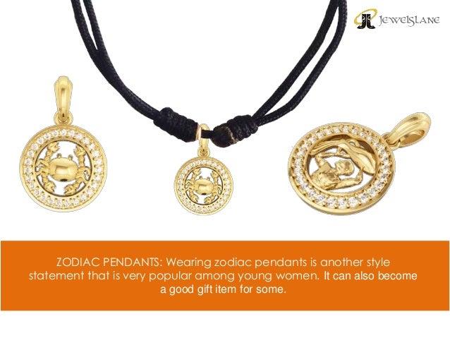 Different types of gold pendants for women online 5 zodiac pendants aloadofball Images