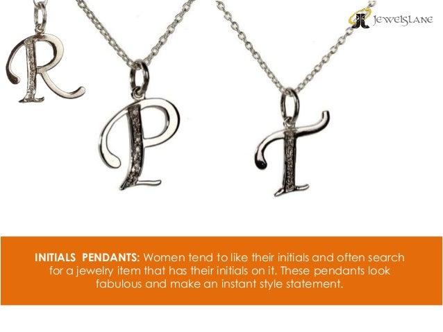 Different types of gold pendants for women online 6 initials pendants women aloadofball Images
