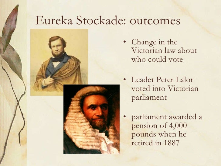 what improved immediately after this eureka stockade