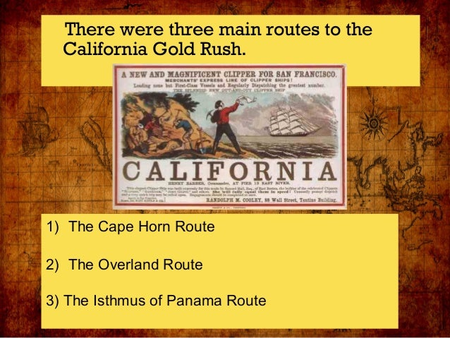 Gold rush lesson power point