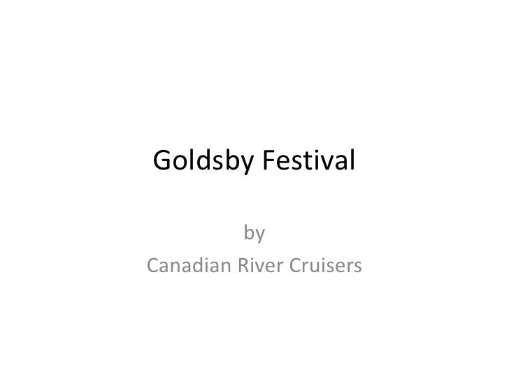 Goldsby Festival<br />by  <br />Canadian River Cruisers<br />