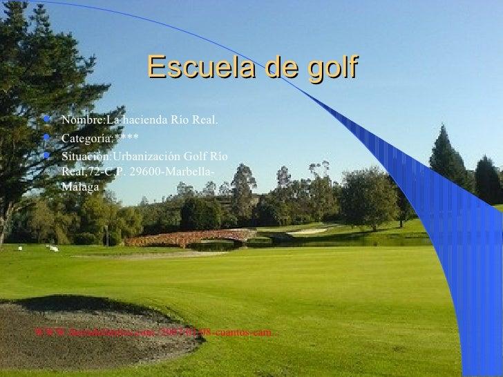 escuela de golf Slide 2
