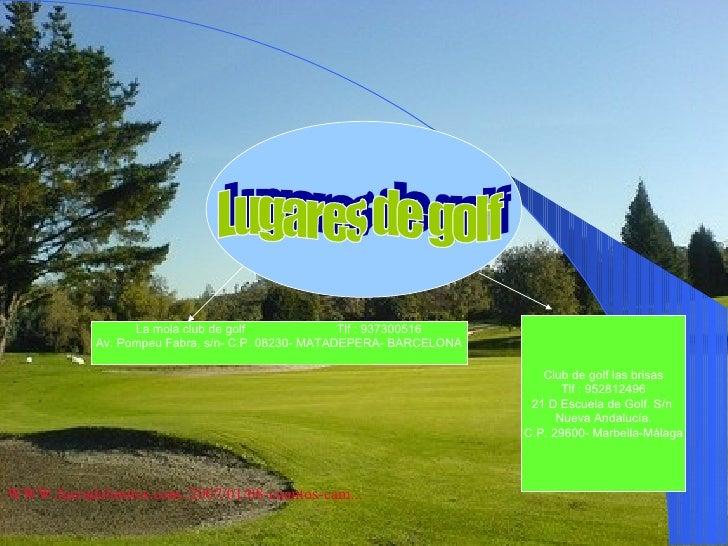 escuela de golf Slide 3