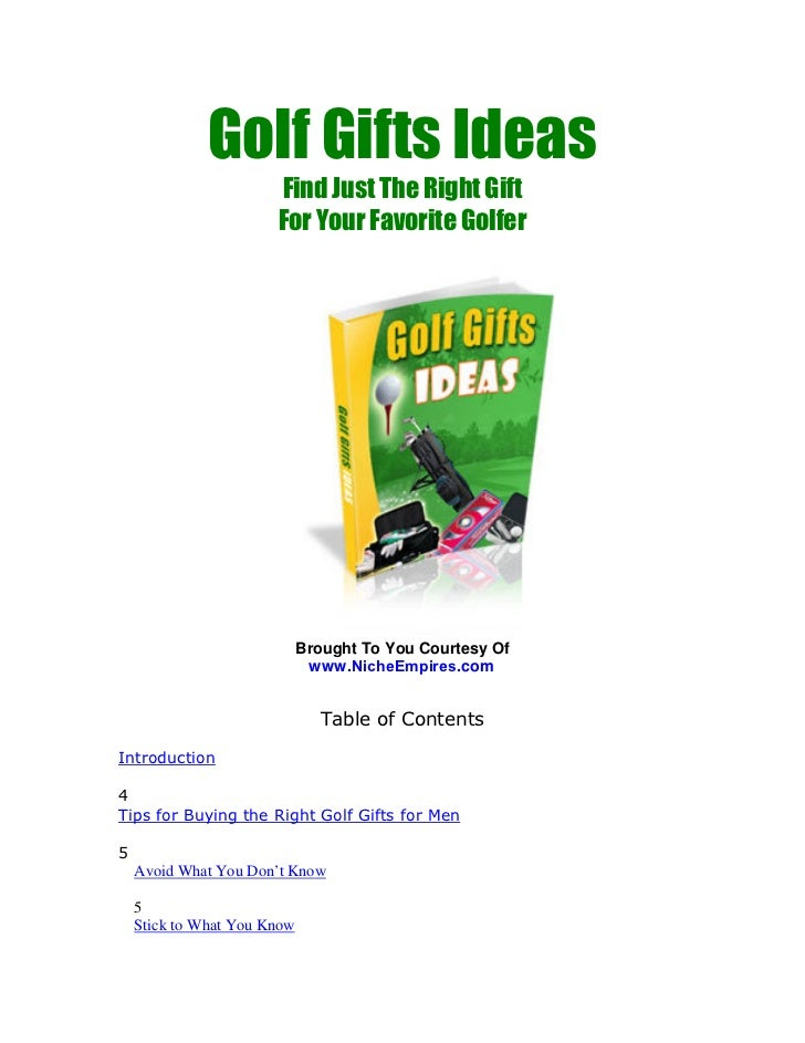 Golf Gifts Ideas                        Find Just The Right Gift                        For Your Favorite Golfer          ...