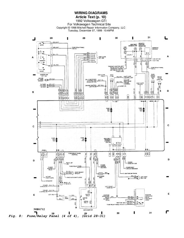 Golf 92 Wiring Diagrams  Eng