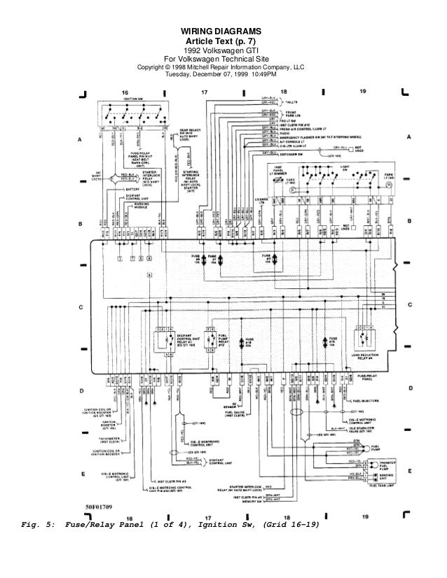 Vw Golf 5 Wiring Diagram VW Golf Relay Location • Mifinder.co