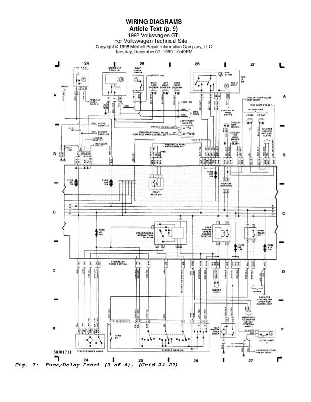 Vw golf wiring diagram somurich