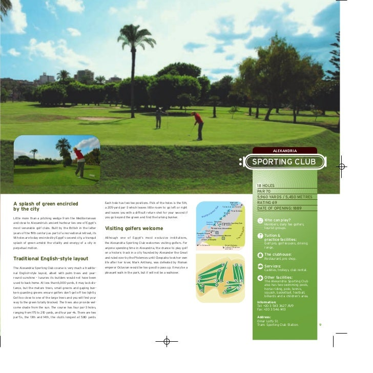 Golf Course Instruction Tri Fold Brochure Template Design Sample