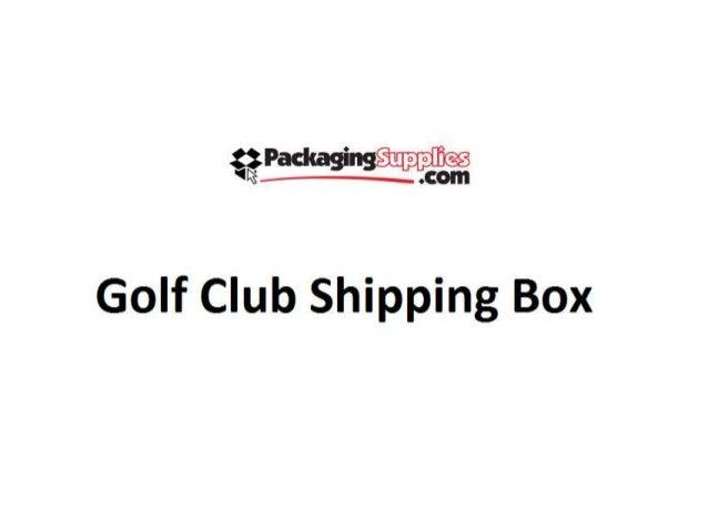 gzradcaging golf club shipping box - Golf Club Shipping Box