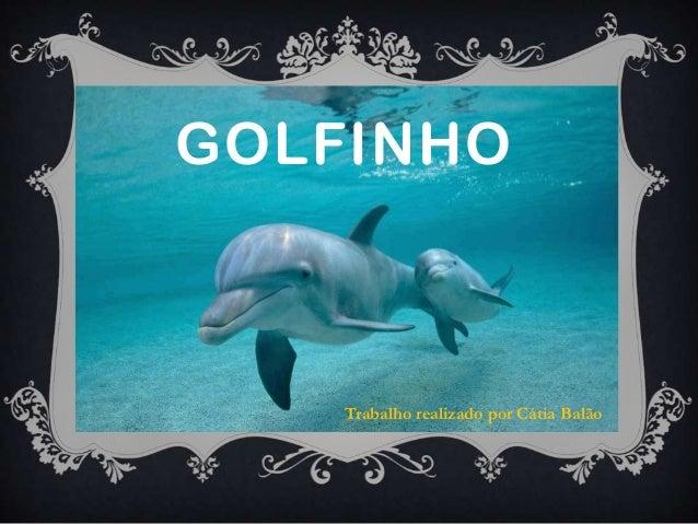 GOLFINHO    Trabalho realizado por Cátia Balão