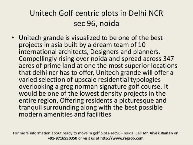Unitech Grande Golf Plots Noida Near Delhi 9716550350